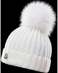 786e0055 Moncler Drawstring Bucket Hat in Blue - Lyst