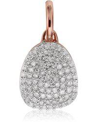Monica Vinader - Nura Pebble Diamond Pendant - Lyst