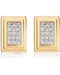 Monica Vinader - Baja Deco Stud Diamond Earrings - Lyst