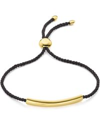 Monica Vinader - Esencia Fine Corded Friendship Bracelet - Lyst