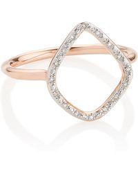 Monica Vinader - Riva Diamond Hoop Ring - Lyst