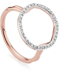 Monica Vinader Riva Circle Diamond Ring - Multicolour