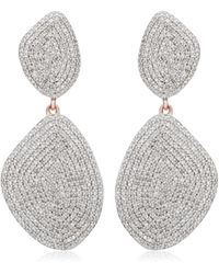 Monica Vinader - Nura Double Teardrop Cocktail Earrings - Lyst