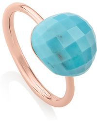 Monica Vinader - Nura Pebble Stacking Ring - Lyst