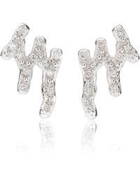Monica Vinader - Waterfall 18ct Rose-gold Vermeil And Diamond Earrings - Lyst
