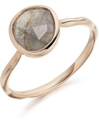 Monica Vinader - Siren Stacking Ring - Lyst