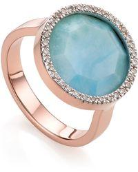 Monica Vinader - Naida Circle Ring - Lyst