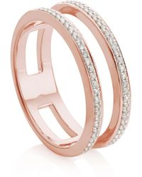 Monica Vinader - Skinny Double Band Ring - Lyst