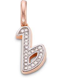 Monica Vinader | Diamond Alphabet Pendant B | Lyst