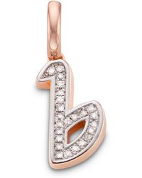 Monica Vinader - Alphabet B Diamond Pendant Charm - Lyst