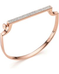 Monica Vinader - Signature Thin Diamond Bangle - Lyst