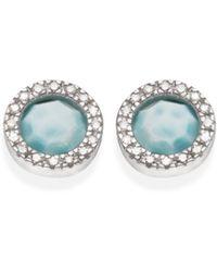 Monica Vinader - Naida Circle Stud Earrings - Lyst
