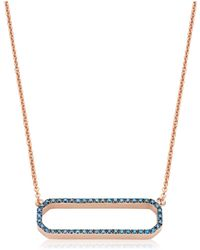 Monica Vinader - Naida Rectangle Open Necklace - Lyst