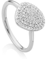 Monica Vinader - Nura Pebble Stacking Diamond Ring - Lyst