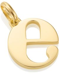 Monica Vinader - Alphabet E Pendant Charm - Lyst