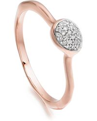 Monica Vinader - Siren Diamond Small Stacking Ring - Lyst