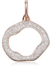 Monica Vinader - Riva Circle Diamond Pendant Charm - Lyst