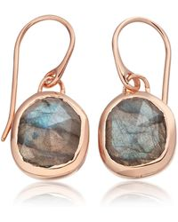 Monica Vinader - Siren Wire Earrings - Lyst