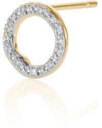 Monica Vinader - Riva Diamond Circle Stud Single Earring - Lyst