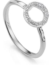 Monica Vinader - Riva Mini Circle Stacking Ring - Lyst
