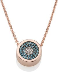Monica Vinader - Evil Eye Necklace - Lyst