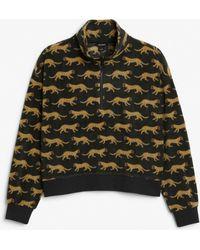 Monki - Fleece Pullover - Lyst