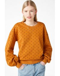 Monki - Jumper With Puff Sleeves - Lyst