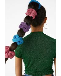 Monki - Pack Of Two Scrunchies - Lyst