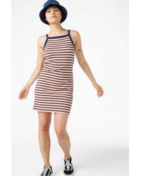 Monki - Glitter Stripe Dress - Lyst