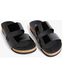 Monki - Faux Leather Sandals - Lyst