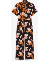 bf1f8b8d4059 Navy Belted Stretch Culotte Jumpsuit. £26. New Look · Monki - Belted  Jumpsuit - Lyst
