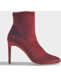 Giuseppe Zanotti - Bimba Stretch Booties In Maroon Synthetic Material - Lyst
