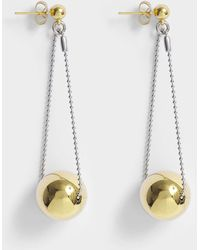 Aris Geldis - Double Dome Gold Ball Earrings In Gold-plated Brass - Lyst