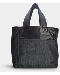 Victoria Beckham - Sunday Leather-trimmed Denim Tote - Lyst