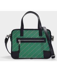 7c07e4d59 Karl Lagerfeld K/city Tokyo Bowling Bag In Green Calfskin