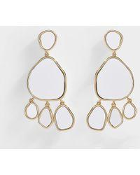 Aurelie Bidermann - Ciottolo Pendant Earrings With Mirror - Lyst