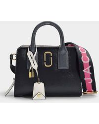 4c116aa9076a Marc Jacobs - Little Big Shot Bag In Black Leather With Polyurethane  Coating - Lyst