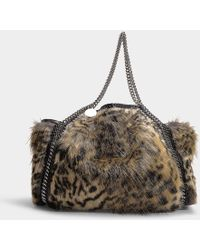 a4ad993c2e1e Stella McCartney - Small Tote Bag Eco Snow Cat Fur Falabella - Lyst