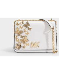 2f34164b9cd9 Michael Kors - Mott Large Butterfly Embellished Leather Crossbody Bag - Lyst
