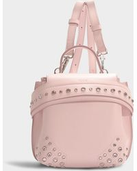 Tod's - Wave Micro Backpack With Crystals In Blue And Pink Calfskin - Lyst