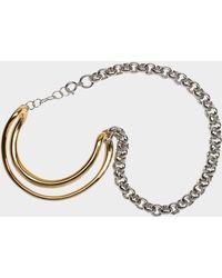 Charlotte Chesnais - Initial Chain Bracelet In Yellow Vermeil - Lyst