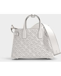 Burberry - The Medium Banner In Perforated Logo Leather - Lyst