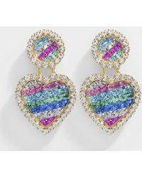 Shourouk - Mini Marilyn Rainbow Earrings In Multicolor Metal - Lyst