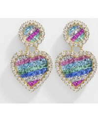 Shourouk - Mini Marilyn Rainbow Earrings In Multicolour Metal - Lyst