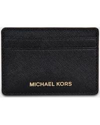 MICHAEL Michael Kors - Jet Set Travel Card Holder In Black Saffiano Leather - Lyst
