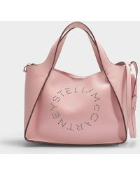 e30c84c102 Stella McCartney - Stella Logo Crossbody Tote In Blush Eco Leather - Lyst
