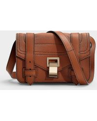 Proenza Schouler - Ps1+ Mini Crossbody Bag In Brown Calfskin - Lyst