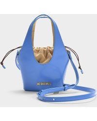Jacquemus - Le Carino Bag In Blue Calfskin - Lyst