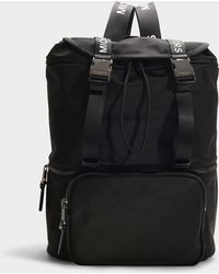 MICHAEL Michael Kors - The Michael Large Flap Backpack In Black Nylon - Lyst
