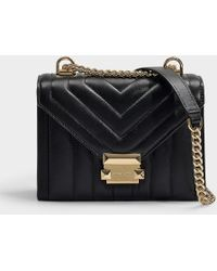 MICHAEL Michael Kors - Whitney Small Shoulder Bag In Black Quilted Lambskin - Lyst